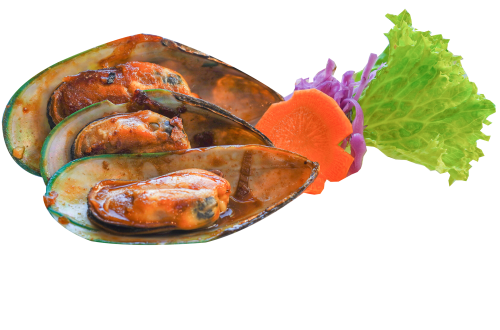 63. Mussels Spicy 4,50€     (b f 6)